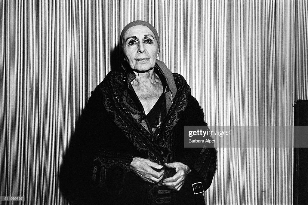 American sculptor Louise Nevelson New York City 24th November 1980