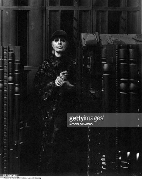 American sculptor Louise Nevelson poses for portrait in her studio August 29 1972 in New York City
