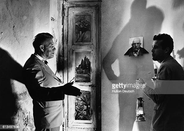 American sexologist Professor Alfred Kinsey during a visit to the Italian Abby where the writer and magician Aleister Crowley formed his own sect He...