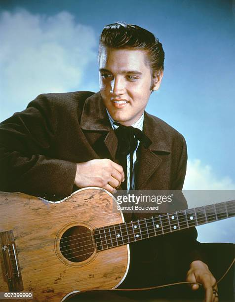 American singer actor and icon Elvis Presley promoting the movie Love me tender directed by Robert D Webb