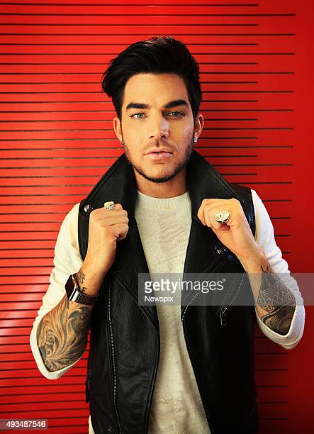 American singer Adam Lambert poses during a photo shoot at Nova studios Pyrmont in Sydney New South Wales ahead of his promotional tour and...