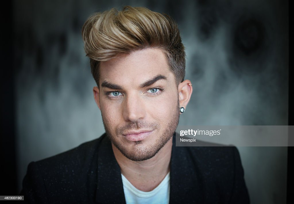 American singer Adam Lambert poses during a photo shoot at The Darling Hotel in Sydney New South Wales