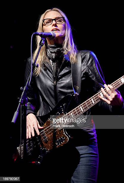 American singer Aimee Mann performs live during a concert at the CClub on January 20 2013 in Berlin Germany
