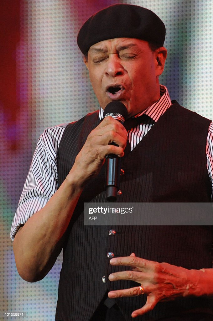American singer Al Jarreau performs during the ninth edition of the Mawazine international music festival in Rabat on May 21, 2010.