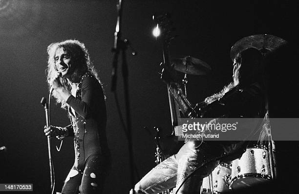 American singer Alice Cooper performing on stage at the Rainbow Theatre London 7th November 1971