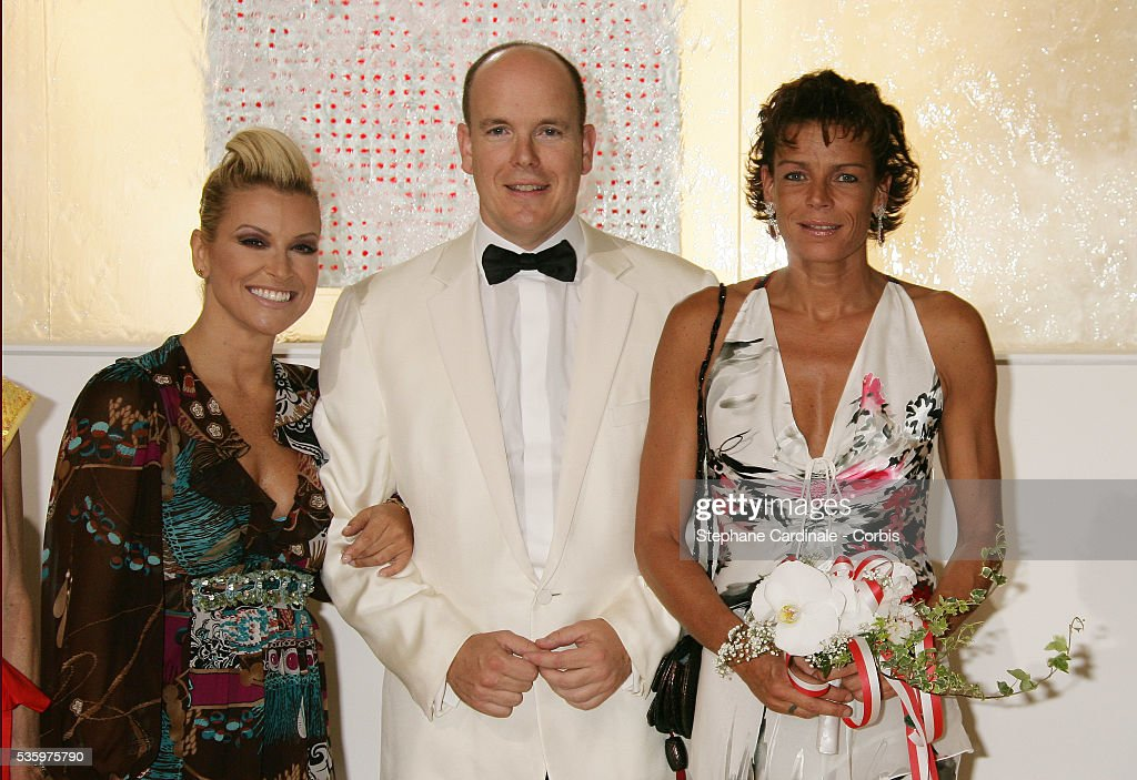 American singer Anastacia, HSH Prince Albert II of Monaco and HSH Princess Stephanie of Monaco.