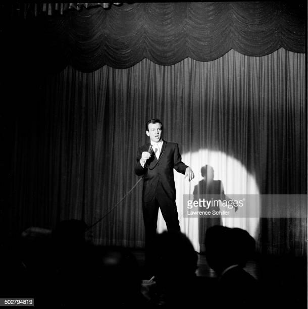 American singer and actor Bobby Darin performs on stage Las Vegas Nevada Las Vegas Nevada 1959