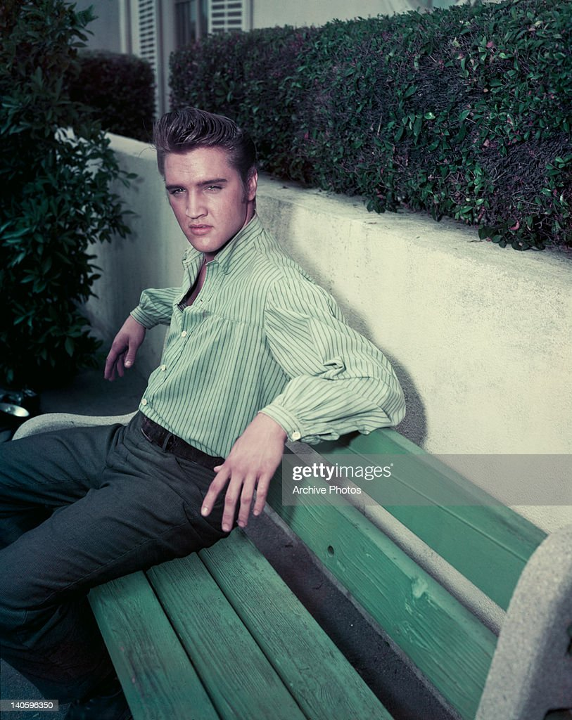 American singer and actor Elvis Presley circa 1957