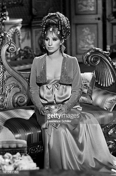 American singer and actress Barbra Streisand on the set of the motion picture 'On a Clear Day You Can See Forever' Brighton England 1969