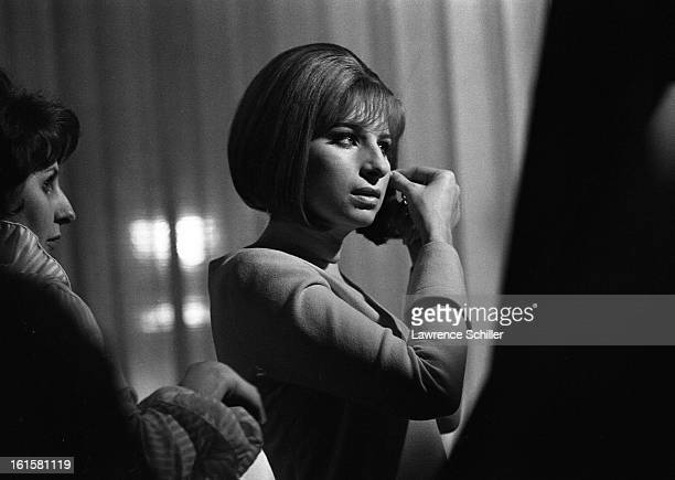 American singer and actress Barbra Streisand prepares for a scene on the set of the motion picture 'On a Clear Day You Can See Forever' Los Angeles...