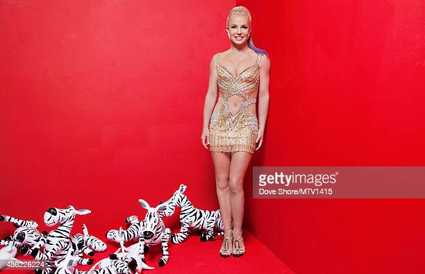 American singer and actress Britney Spears is photographed at the 2015 MTV VMA Awards on August 30 2015 at the Microsoft Theater in Los Angeles...