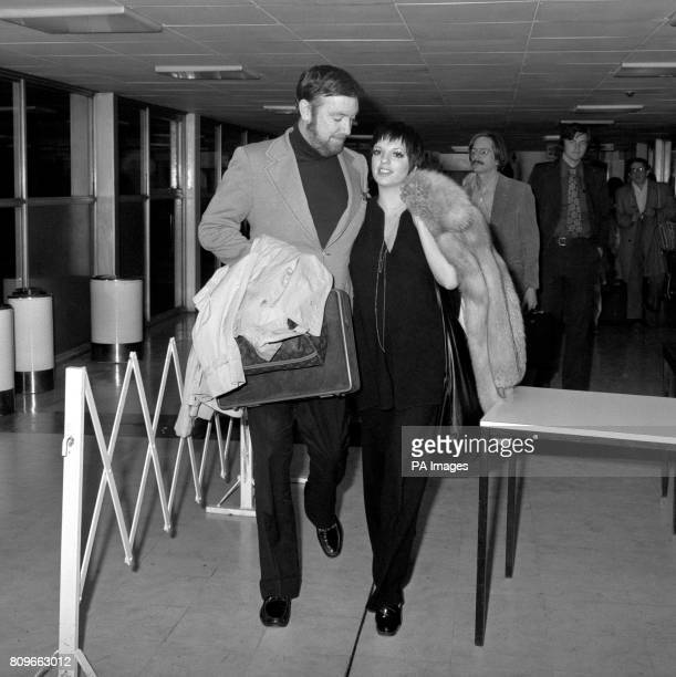 American singer and actress Liza Minnelli and her husband Jack Haley Jnr at Heathrow Airport in their arrival from America to continue their...
