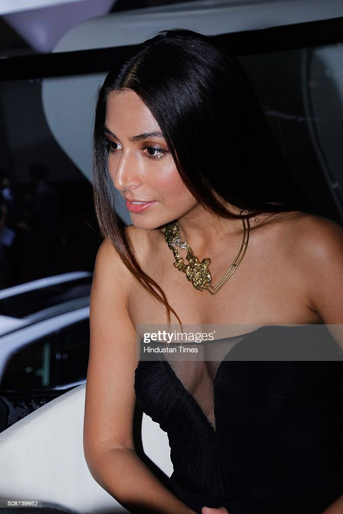 American singer and actress Monica Dogra during the launch of new Audi R8 V10 Plus at the Auto Expo 2016, on February 4, 2016 in Greater Noida, India. Audi India has launched the new generation R8 V10 Plus at INR 2.47 crore. The 13th edition of the Delhi Auto Expo kicked off at the India Expo Mart (IEM) in Greater Noida with brands from over 20 countries showcasing various cars, bikes and automobile trends. India, the worlds fifth biggest auto market, has an extremely low number of cars for its 1.2 billion people, with industry figures suggesting there are as few as 16 per 1,000 people