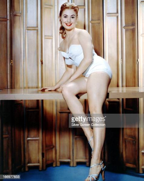 American singer and actress Shirley Jones in a onepiece bathing costume circa 1958