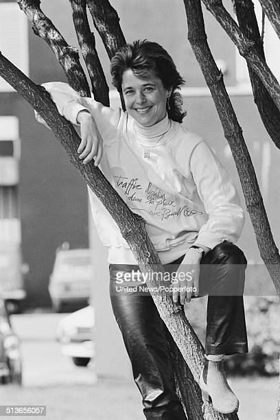 American singer and bass guitarist Suzi Quatro posed in London on 28th May 1986