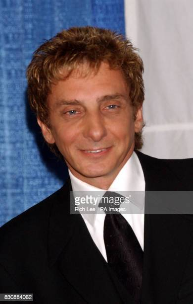 American singer and composer Barry Manilow who was inducted into the Songwriters Hall of Fame during the National Academy of Popular...