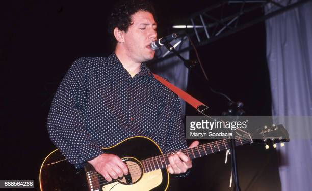American singer and guitarist Ira Kaplan of indie rock group Yo La Tengo performs on stage at Glastonbury Festival 25th June 2000