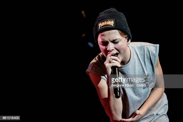 American singer and internet personality Jacob Sartorius performs on stage on October 13 2017 in Milan Italy