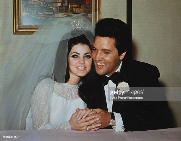 American singer and musician Elvis Presley marries Priscilla Beaulieu at the Aladdin Hotel in Las Vegas Nevada on 1st May 1967