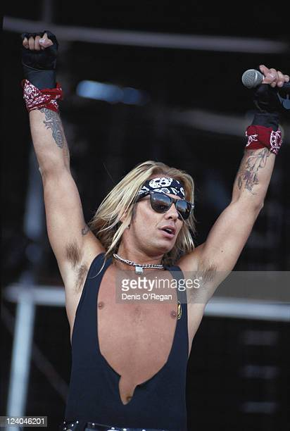 American singer and musician Vince Neil lead vocalist of heavy metal band Motley Crue circa 1990