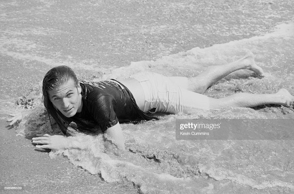 American singer and songwriter Evan Dando of The Lemonheads on the beach in Los Angeles August 1993
