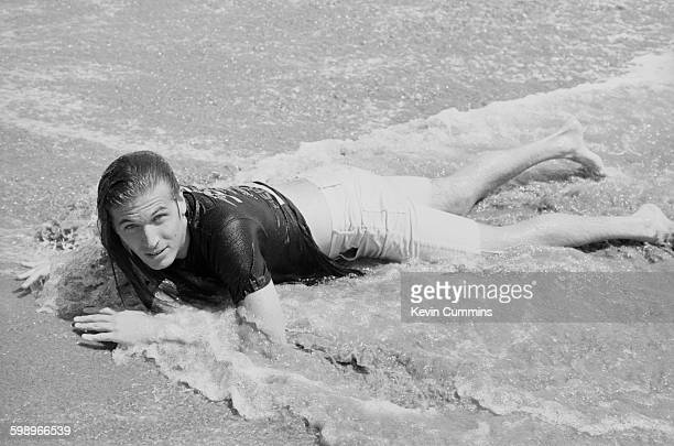 American singer and songwriter Evan Dando of The Lemonheads on the beach in Los Angeles August 1993