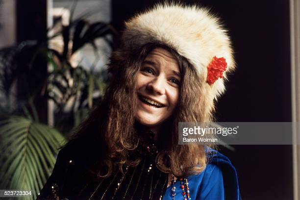 American singer and songwriter Janis Joplin at Spaulding Taylor's house San Francisco January 1968