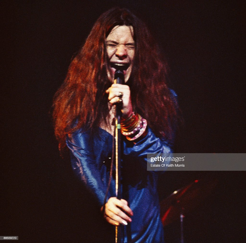 American singer and songwriter <a gi-track='captionPersonalityLinkClicked' href=/galleries/search?phrase=Janis+Joplin&family=editorial&specificpeople=552062 ng-click='$event.stopPropagation()'>Janis Joplin</a> (1943 - 1970) in concert at the Royal Albert Hall in London, 21st April 1969.