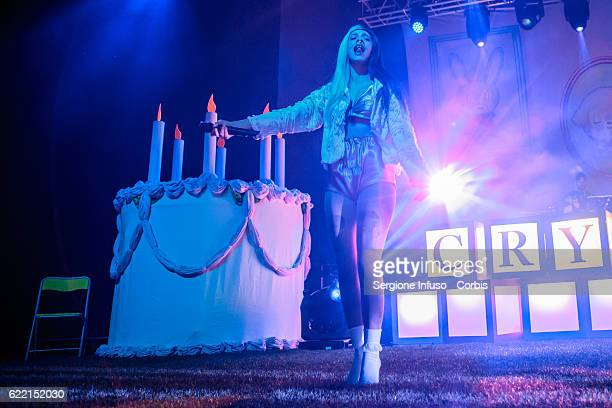 American singer and songwriter Melanie Martinez performs on stage on November 8 2016 in Milan Italy