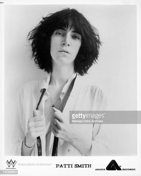Patti Smith poses for a portrait circa 1977