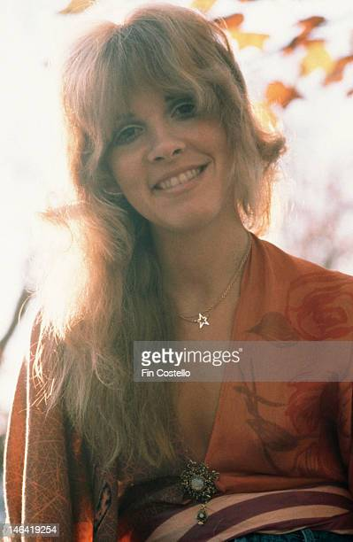 American singer and songwriter Stevie Nicks of rock band Fleetwood Mac in New Haven Connecticut October 1975