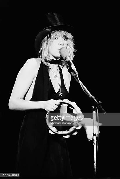 American singer and songwriter Stevie Nicks performing with Fleetwood Mac at Nassau Coliseum Uniondale New York 26th March 1977