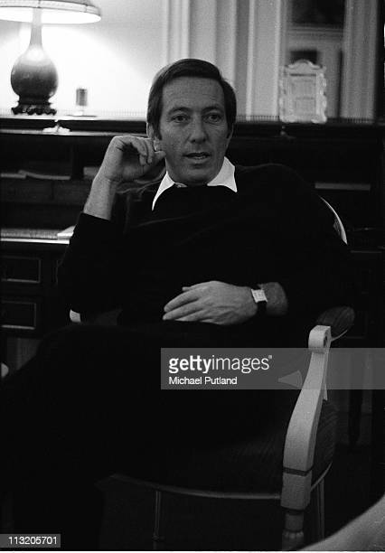 American singer Andy Williamsposed at the Savoy Hotel in London on 7th November 1970
