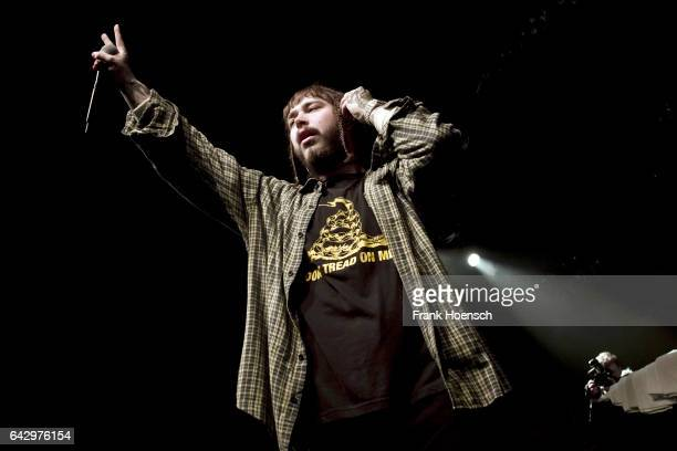American singer Austin Richard Post aka Post Malone performs live during a concert at the Columbia Theater on February 19 2017 in Berlin Germany