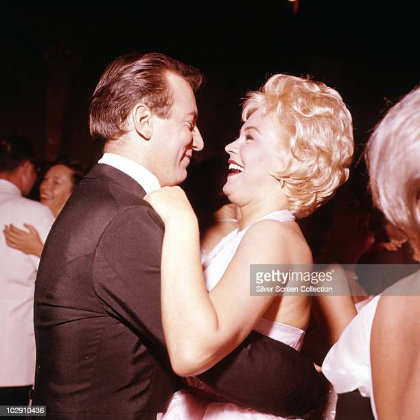 American actor and singer Bobby Darin with his wife actress Sandra Dee circa 1965