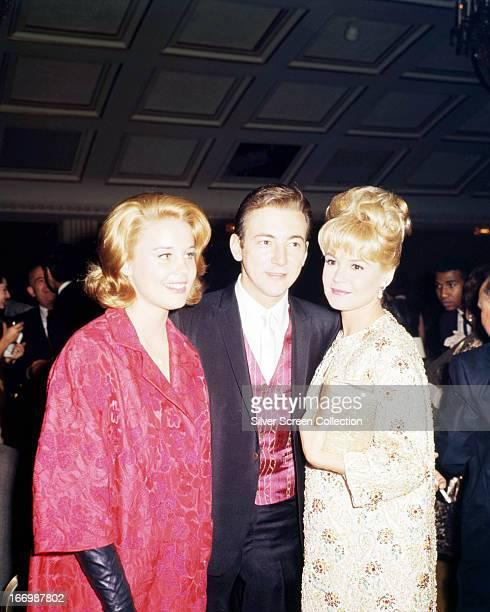 American singer Bobby Darin with his wife actress Sandra Dee circa 1965