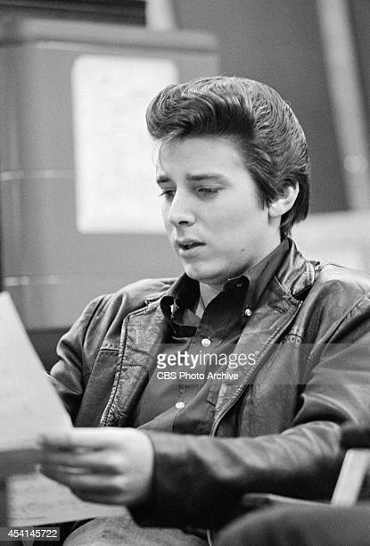 American singer Bobby Sherman at a recording session in Los Angeles California March 13 1967