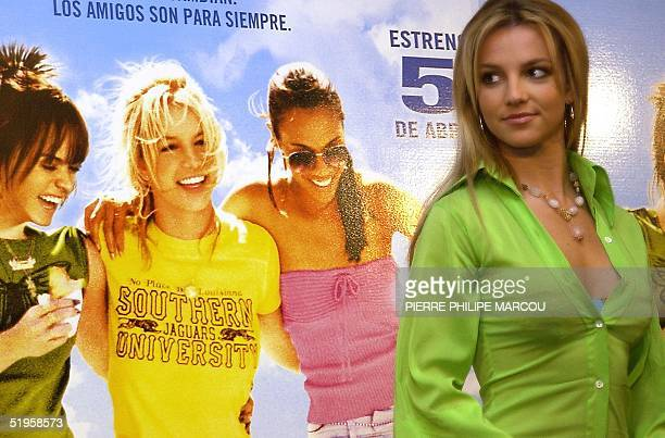 American singer Britney Spears appears during a photocall on the occasion of the release of the last movie of Tamra Davis 'Crossroads' in Madrid 21...