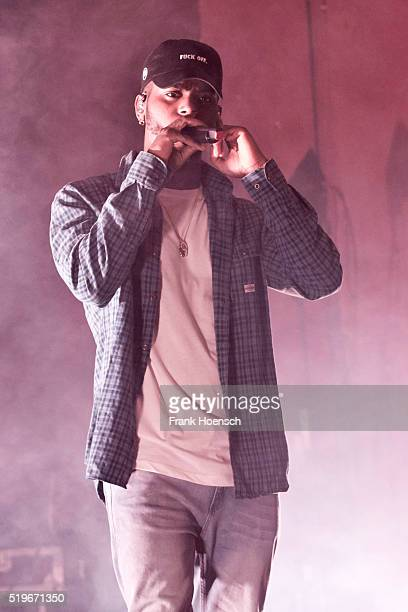 American singer Bryson Tiller performs live during a concert at the Astra on April 7 2016 in Berlin Germany