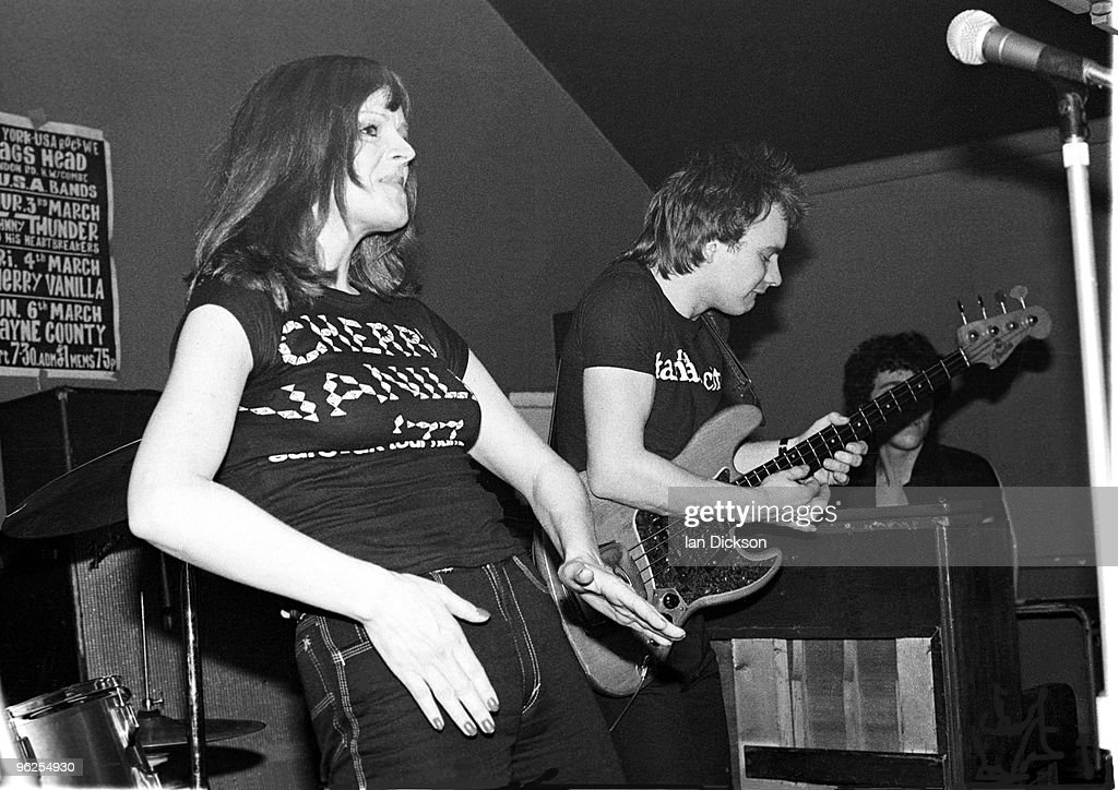 American singer Cherry Vanilla and bassist Sting performing on stage at The Nags Head High Wycombe Buckinghamshire 4th March 1977 The Cherry Vanilla...