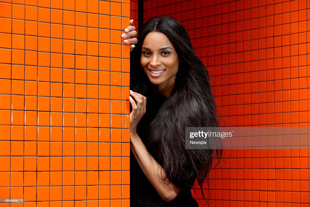 American singer Ciara poses during a photo shoot at Sony studios on March 2 2015 in Sydney Australia