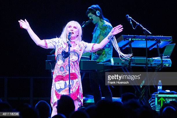 American singer Debbie Harry of Blondie performs live during a concert at the Tempodrom on June 23 2014 in Berlin Germany