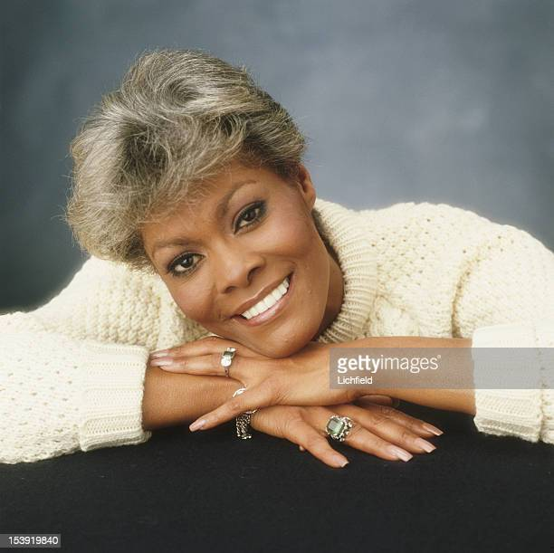 American singer Dionne Warwick photographed in the Studio on 24th January 1983