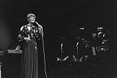 American singer Dionne Warwick performs on stage at Radio City Music Hall New York City USA 12th June 1980