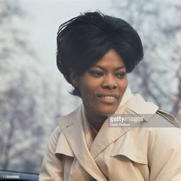 Dionne Warwick US singer poses for a portrait in Hyde Park London England Great Britain circa 1965