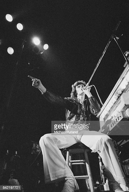 American singer Donny Osmond performing with American pop group The Osmonds at one of their two Earl's Court concerts London 28th29th May 1975