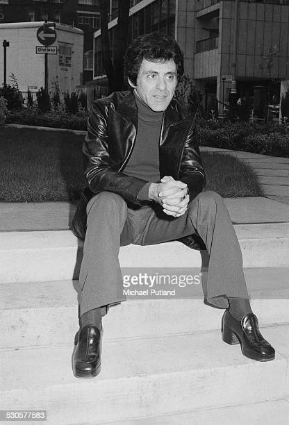 American singer Frankie Valli of pop vocal group The Four Seasons London 2nd January 1975