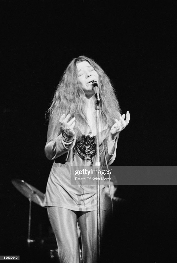 American singer Janis Joplin performing with the Kozmic Blues Band at the Royal Albert Hall London 21st April 1969