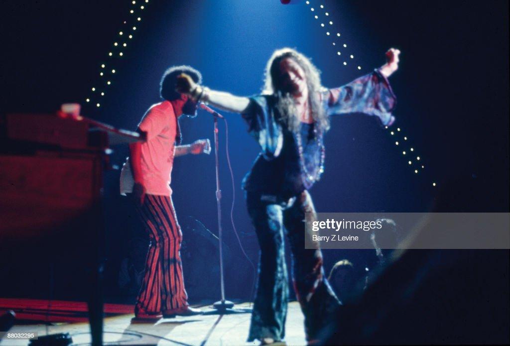 American singer Janis Joplin (1943 - 1970) performs onstage at the Woodstock Music and Arts Fair in Bethel, New York, August 17, 1969.