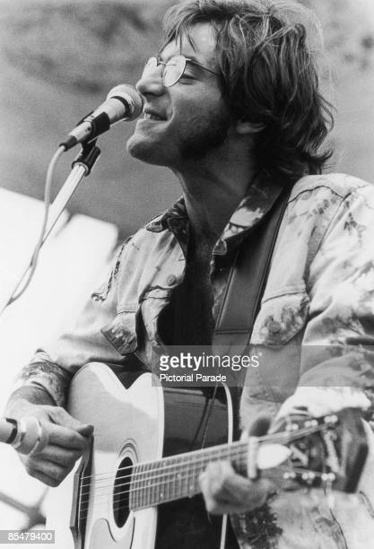 American singer John Sebastian performing at the Woodstock Music Festival Bethel New York 16th August 1969